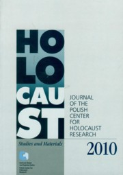 Holocaust Studies and Materials 2010,
